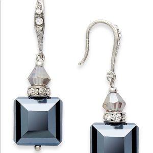 I.N.C. Earrings, Silver-Square Bead Drop Earrings